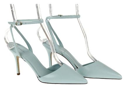 J Crew Elsie Ankle-Wrap Pumps Style# F1303 Sunwashed Aqua New Size 6