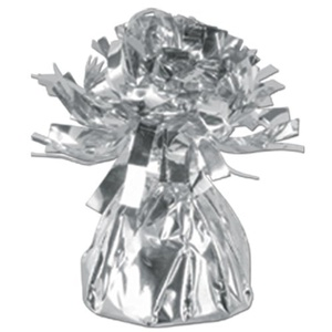 Silver Helium Balloon Table Foil Weight by Metallic