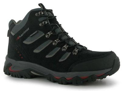 Mens Karrimor Mount Mid Walking Shoes Black (UK 9.5 / US 10)