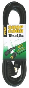 Prime Wire & Cable EC502615 15-Foot 16/3 SJTW Indoor and Outdoor Extension Cord, Black by Prime Wire & Cable