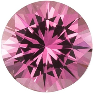 Faceted Precision Cut Pink Sapphire Gemstone, Round Shape, Grade AA, 3.75 mm in Size, 0.25 Carats