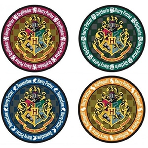 Harry Potter Hogwarts Crest Round Colored Coaster by Monogram