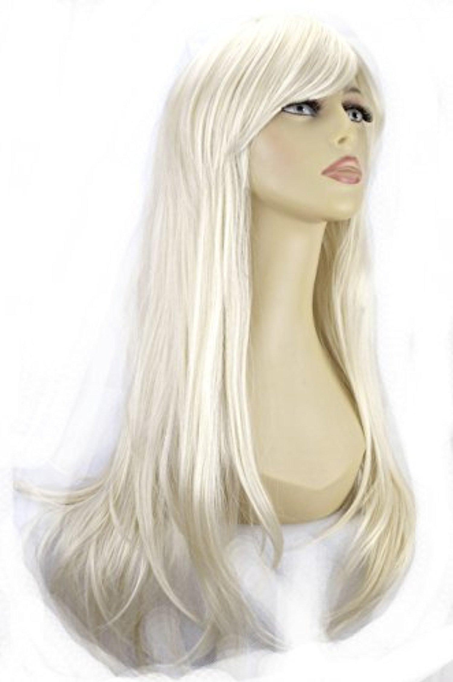 ELEGANT HAIR 20 Ladies Beautiful Full WIG Long Hair Piece FLICK Style Platinum Blonde #16/60 275g by Elegant Hair