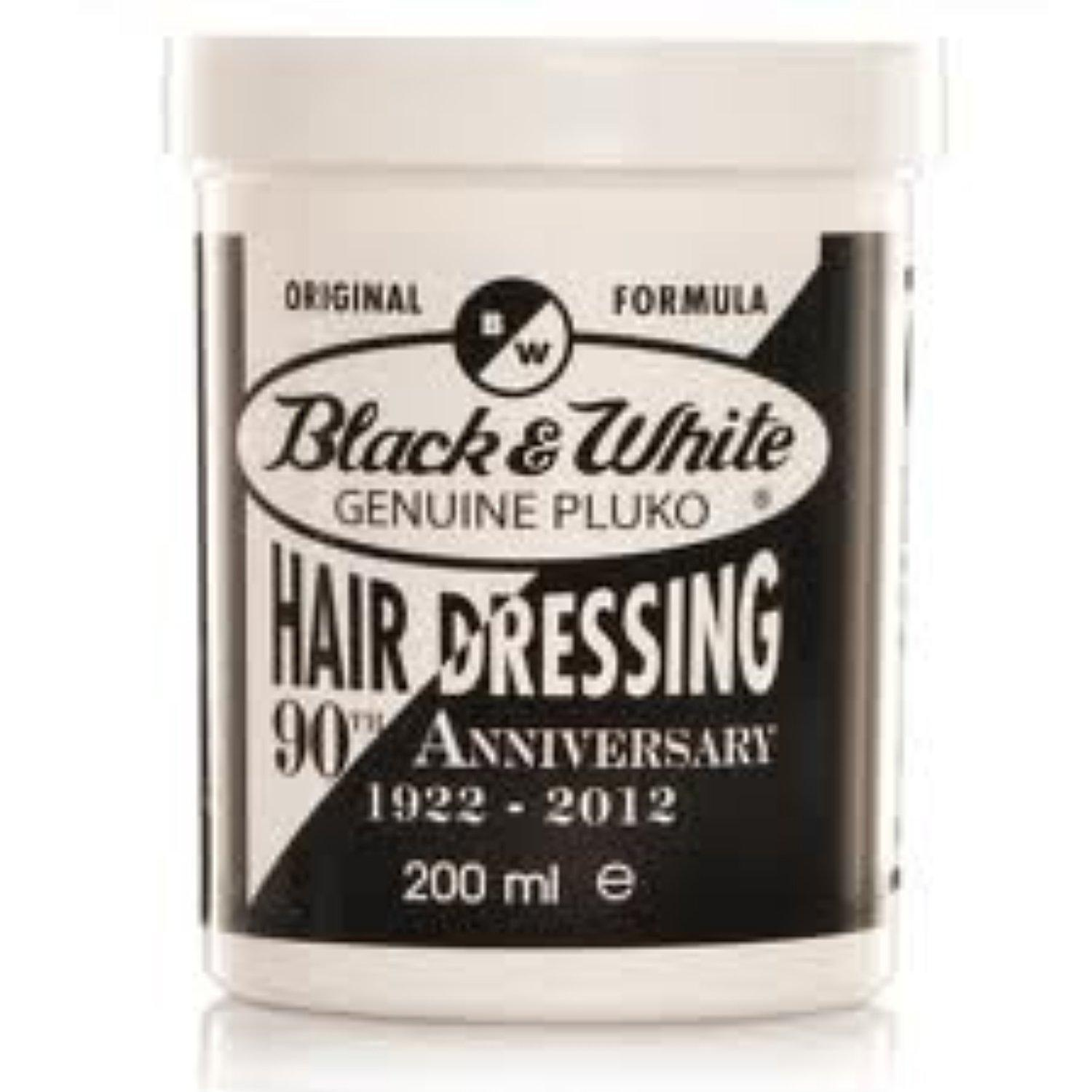 Black & White Pluko Hair Dressing 200ml, 2 (TWIN) Pack by Black and White