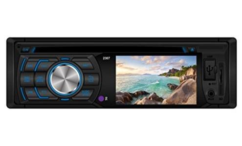 Leewos 3 Inch HD Color Digital Screen AUX Input In-Dash DVD / CD / USB / MP3 Player RDS Radio Car Radio Player