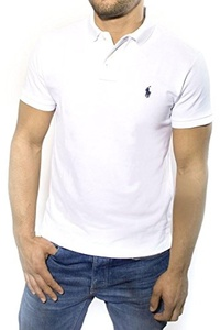 Polo Ralph Lauren Custom Fit Mesh Polo Shirt for Men healthy white XL