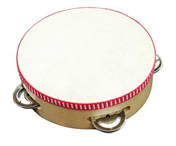 New Classic Toys Tambourine 4 prs. Jingle, Multi by New Classic Toys