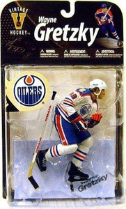 McFarlane Toys NHL Sports Picks Legends Series 8 Action Figure Wayne Gretzky (Edmonton Oilers) Blue Jersey by SportsPicks: NHL Hockey