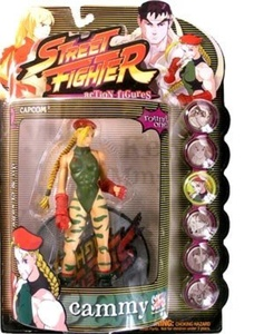 Street Fighter Round 1 Cammy Action Figure (Player One - Green Outfit) by Street Fighter