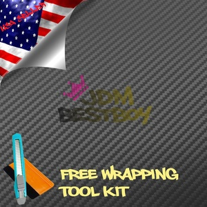 Free Tool Kit EZAUTOWRAP 3D Gunmetal Gray Carbon Fiber Textured Car Vinyl Wrap Sticker Decal Film Sheet - 60
