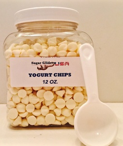 SUGAR GLIDERS USA YOGURT CHIPS IN A JAR 12 OZ. WITH FREE SCOOP