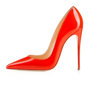 Sammitop Women's Pointed Toe Stiletto Heel Pumps Extreme High Heels Dress Shoes Red Size US13