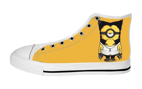 Women's High Top Full Canvas Upper Soft Inner Canvas Shoes Custom Despicable Me Minion Superheroes Design