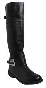 Bamboo Womens Monata-49 Black boots 5.5 D(M) US