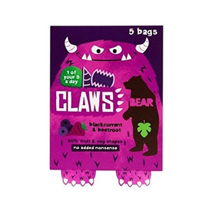 Bear Claws Blackcurrant Beetroot 5 x 18g - Pack of 2