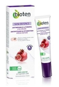 100% Natural Pomegranate & Pro-Elaskin Eye Contour Cream - Anti-Wrinkle & Firming (Ages 35-45) - 15ml by Bioten Skin Defence