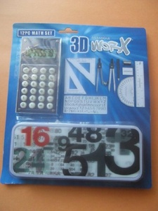 WORX 12-pc 3D Math Set by WORX 12-pc 3D Math Set