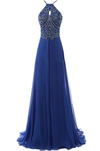 Angel Bride Spaghetti A Line Rhinestone Cocktail Prom Gown Evening Party Dress-22W-Royal Blue