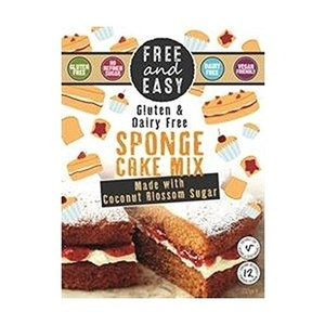 Free & Easy Sponge Cake Mix With Coconut Blossom Sugar 350g (Pack of 4)