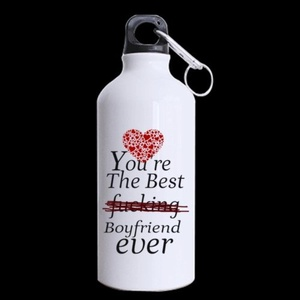 Birthday Gifts For boyfriend You're the best fucking boyfriend ever 13.5oz Sports Bottle(Two Sides)