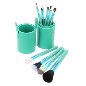 Remeehi 12pcs Makeup Brushes Set Professional Makeup Tools with Cylindrical Cosmetic Bag Green