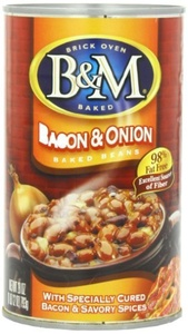 B & M Baked Beans with Bacon and Onion, 28 Ounce (Pack of 12) by B&M