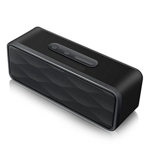 Bestowal GS805 Bluetooth Speaker, Wireless Majory Portable Bluetooth 4.0 Speaker Dual 3W Support TF Card/FM Radio with Built-in Microphone, 3.5 AUX Voice for Home Party Bedroom Smartphone Ipad (Black)