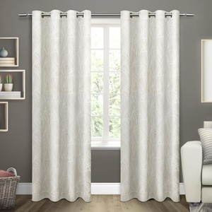 Exclusive Home Twig Insulated Woven Room Darkening Grommet Top Window Curtain Panel Pair, 54x108, Vanilla