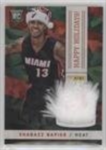 Shabazz Napier (Trading Card) 2014 Panini Black Friday - Happy Holidays Santa Hat Relics - Cracked Ice #13