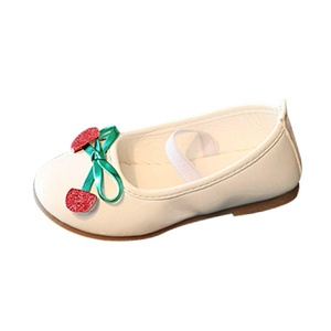 LINGGO Girls Cherry Pu Leather Mary Jane Princess Shoes (Toddler/Little Kid)