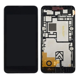 New Black Touch Digitizer+LCD Display screen Assembly+Frame For Nokia Lumia 530