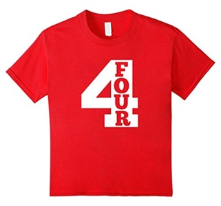 Kids Kids Four Year Old Shirt - 4th Birthday Party T-Shirt 8 Red