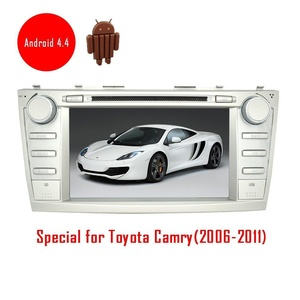 Android 4.4 car dvd player autoradio for Toyota Camry(2006-2011) 8 inch HD capacitive touch screen DVD/VCD/MP3/MP4 bluetooth wifi free 3D gps navigation map am/fm radio receiver
