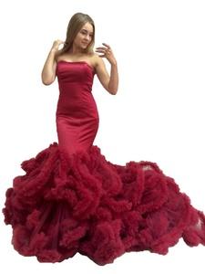 Angel Formal Dresses Women's Sheath Sweetheart Court Train Wedding Evening Dress (6, Blue)