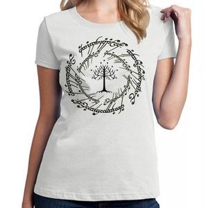 lord of the rings tree logo for Medium White women T shirt