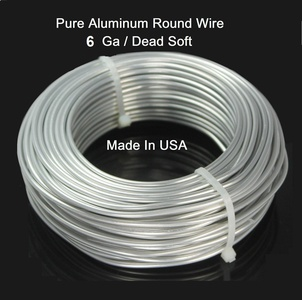 Modern Findings 6 Ga Aluminum Round Wire 15 Ft (dead Soft)