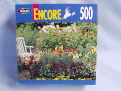 Encore 500 Piece Jigsaw Puzzle Titled, Fell Gardens, Pennsylvania by Encore