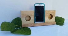 Wooden Wireless Smartphone Speaker Amplifier