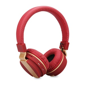 Excelvan Foldable Wireless Bluetooth Stereo Headphones Adjustable On-Ear Headsets, Built-in Mic, FM Radio/TF Card for iPhone, Android Phones, PC (Red)
