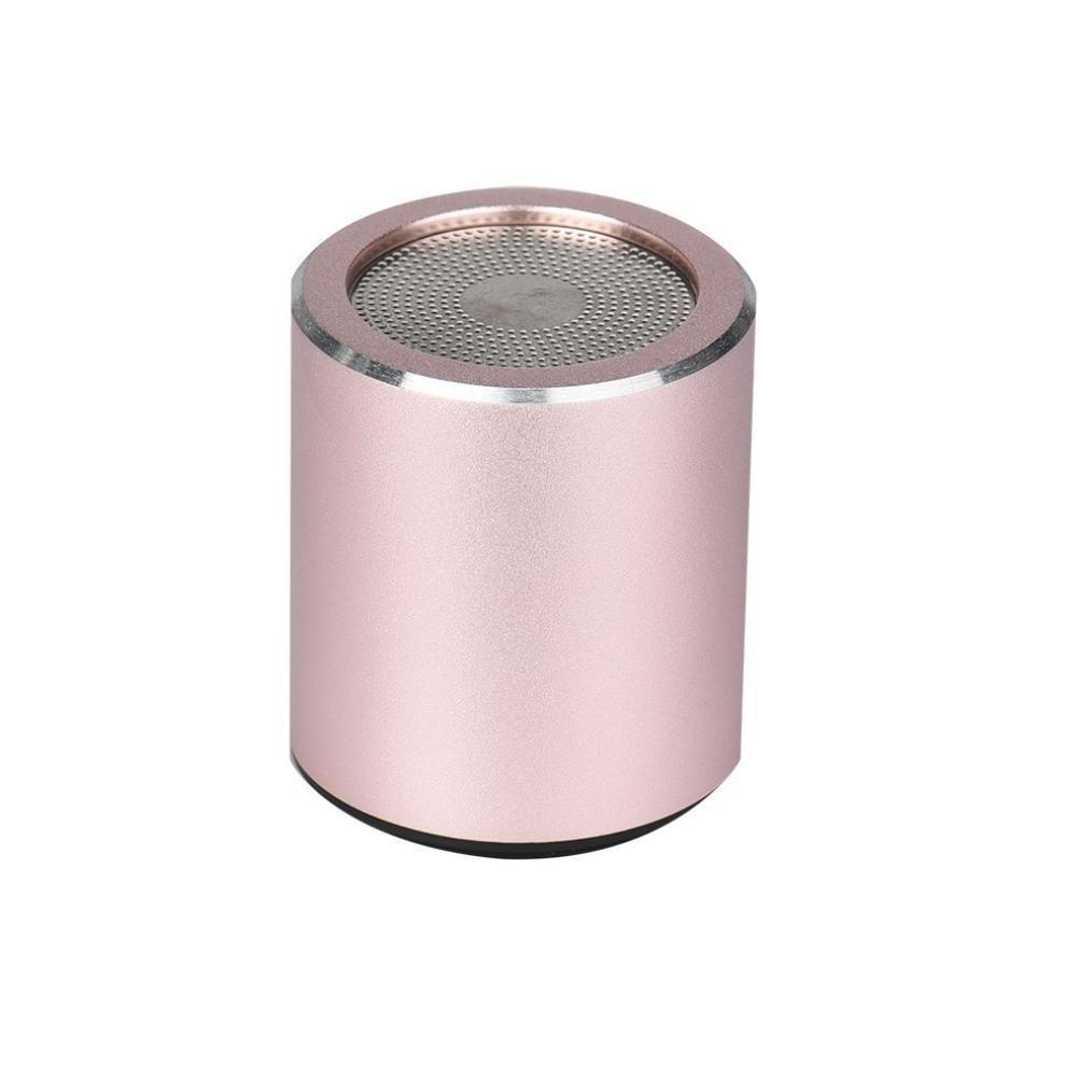 Alonea Mini Portable Bluetooth Wireless Super Bass Stereo Speaker For iPhone (Rose Gold)