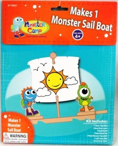 Monster Sail Boat by Toner Crafts