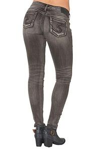 Silver Jeans Denim Womens Suki Skinny 27 x 31 Black L93142SBK512
