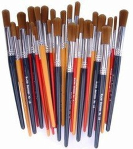 Short Handle Nylon Brush Class - Pack of 30 by Major Brushes