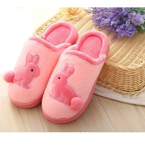 Mens Womens Couple Cartoon Rabbit Soft Cozy Plush Thermal Home Indoor Slippers Winter Warm Velvet Fleece Slip-on Shoes Household Scuff Mules Waterproof Non-slip Sole Footwear Clog Boots