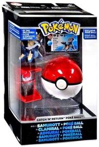 Pokemon TOMY Trainer's Choice Catch 'n' Return Poke Ball Samurott & Poke Ball by Pokemon Toys, Action Figures, Playsets & Plush