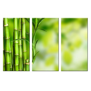 VVOVV Wall Decor - Wall Art For Home Decoration Green Bamboo Pictures Prints Modern Canvas Office Decor Landscape Print On Canvas Giclee Artwork