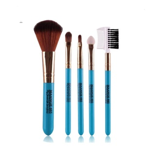 Leewa Makeup Brush Set tools Make-up Toiletry Kit Foundation comb (Blue)