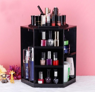 ONEONEY 360 Degree Rotation Makeup Organizer Adjustable Multi-Function Cosmetic Storage Box, Large Capacity, Fits Toner, Creams, Makeup Brushes, Lipsticks and More