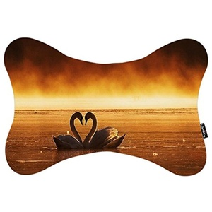 Custom Travel Car Seat Neck Pillow Swan Love Bone Shape Neck Rest Cushion (Only One)