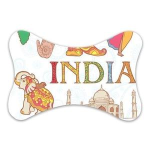 Custom Travel Car Seat Neck Pillow India Elephant Bone Shape Neck Rest Cushion (Only One)